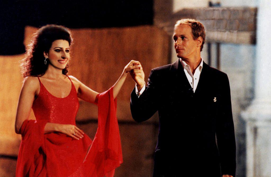 LUCIA ALIBERTI con la rock star MiICHAEL BOLTON durante il Concerto al Teatro Bellini,Catania