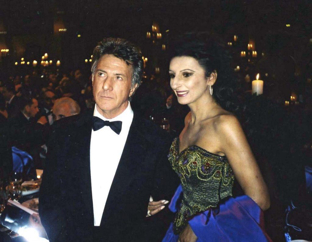 LUCIA ALIBERTI col la movie star Dustin Hoffman durante il Berlin Film Festival