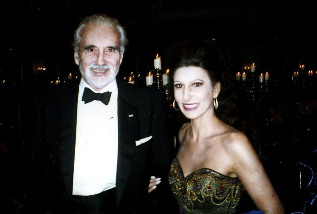 LUCIA ALIBERTI con la movie star e regista CHRISTOPHER LEE durante il Berlin Film Festival