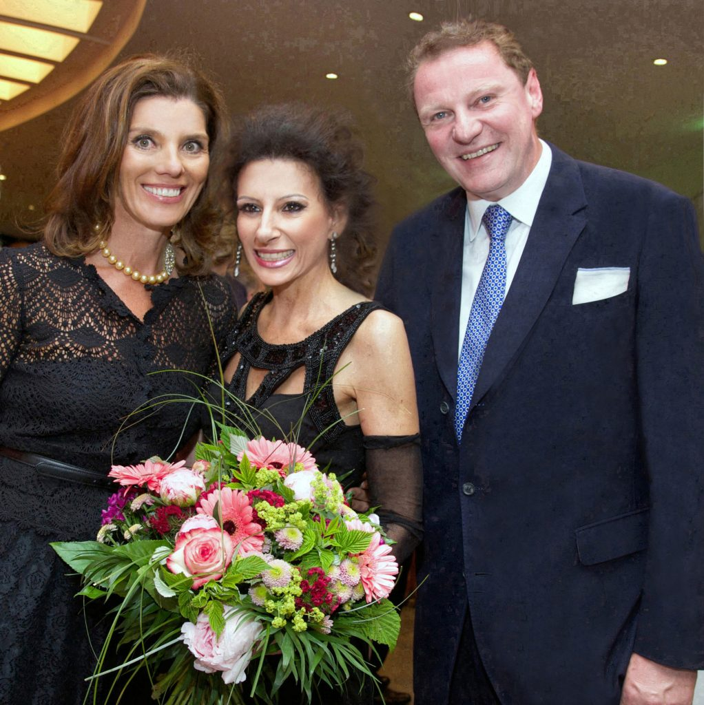 LUCIA ALIBERTI con BIRGIT e FRANZ GEORG STRAUß in Monaco dopo il Concerto