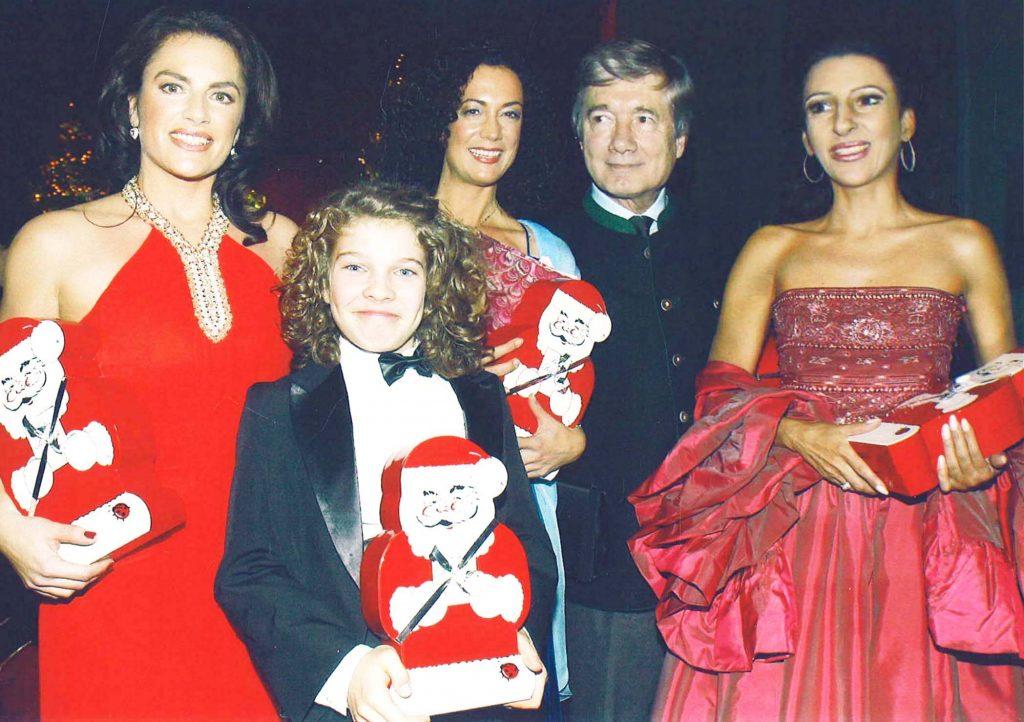 LUCIA ALIBERTI con CHRISTINE NEUBAUER,l'attrice BARBARA WUSSON e l'attore CHRISTIAN WOLFF durante un_Charity Gala _a Monaco.