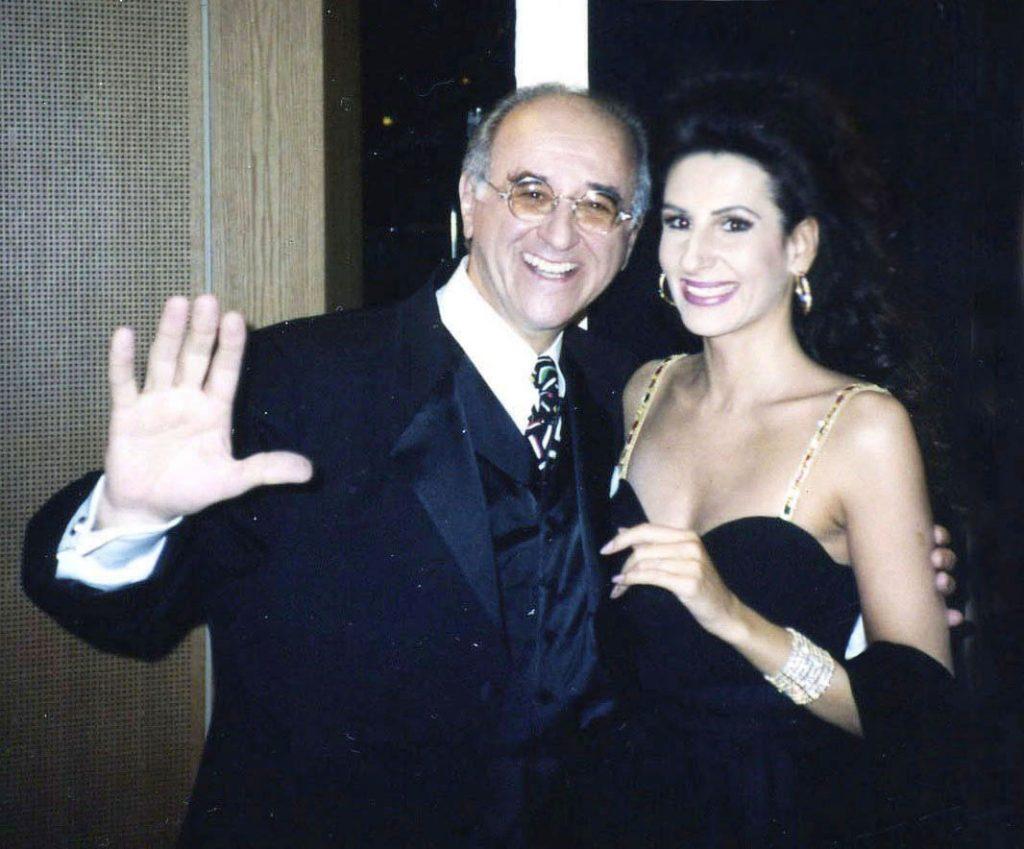 LUCIA ALIBERTI col moderatore e produttore ALFRED BIOLEK ,dopo un TV-Show