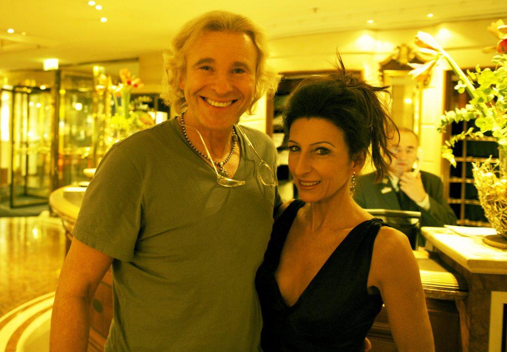 LUCIA ALIBERTI con il moderatore e attore THOMAS GOTTSCHALK a Monaco