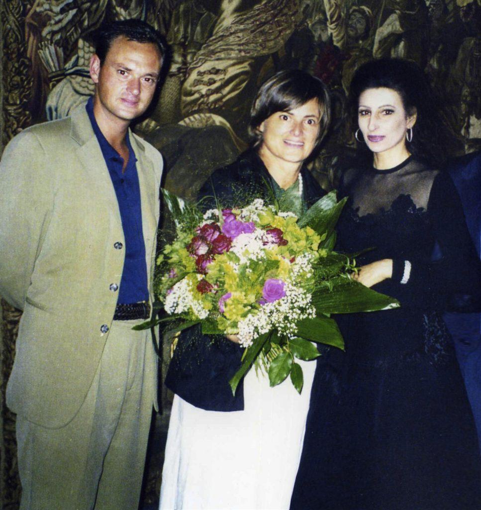 LUCIA ALIBERTI con la Principessa GLORIA VON THURN und TAXIS e suo figlio dopo il Concerto al Festival di Regensburg