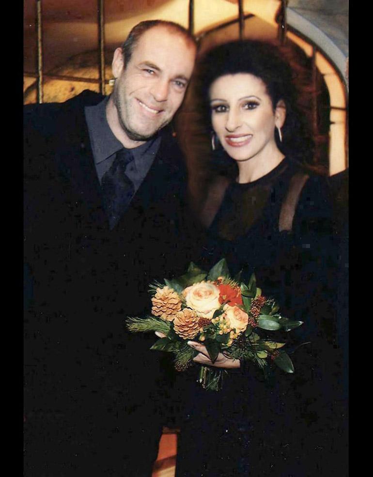 LUCIA ALIBERTI con l'attore PETER KREMER,protagonista della serie TV _SISKA_,guests stars in un Charity Gala in Nurinberga