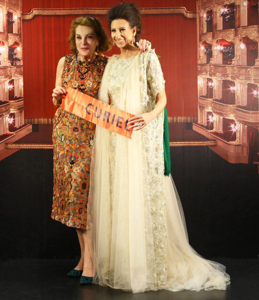 LUCIA ALIBERTI con la stilista e Ambasciatrice della moda italiana RAFFAELLA CURIEL a Shanghai.
