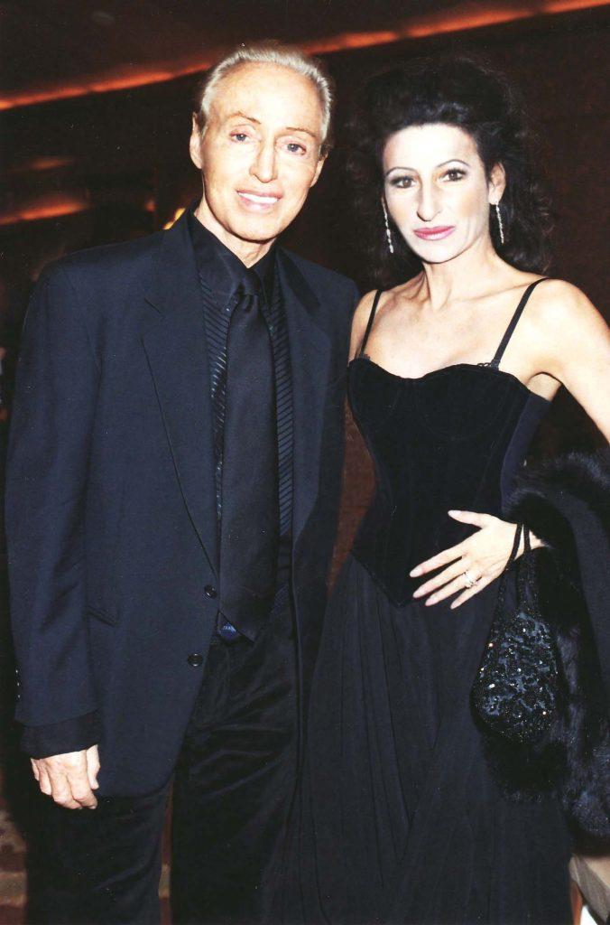 LUCIA ALIBERTI con lo stilista di moda RENATO BALESTRA ,Guests Stars al_Four Seasons Hotel Milan