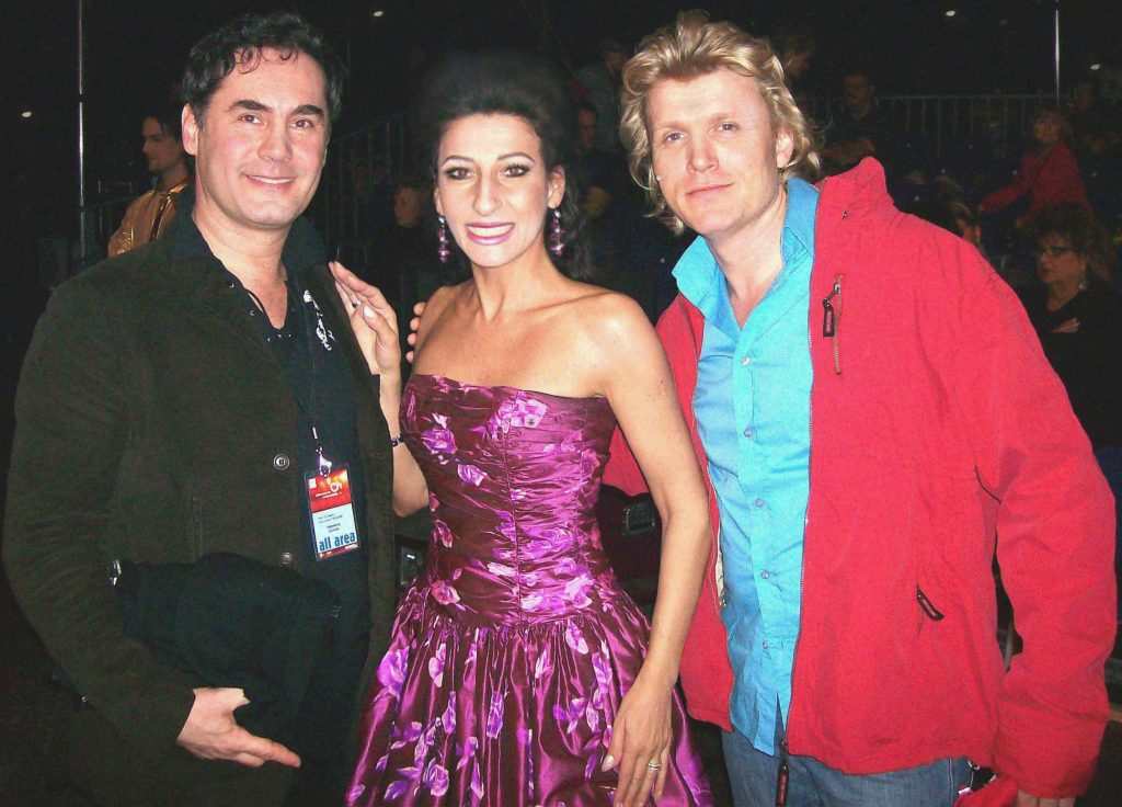 "Lucia Aliberti with the Make-Up Artist Marco Mannozzi⚘the Dutch magician,illusionist and actor Hans Klok⚘""Willkommen bei Carmen Nebel""⚘ZDF Television⚘TV Show⚘"