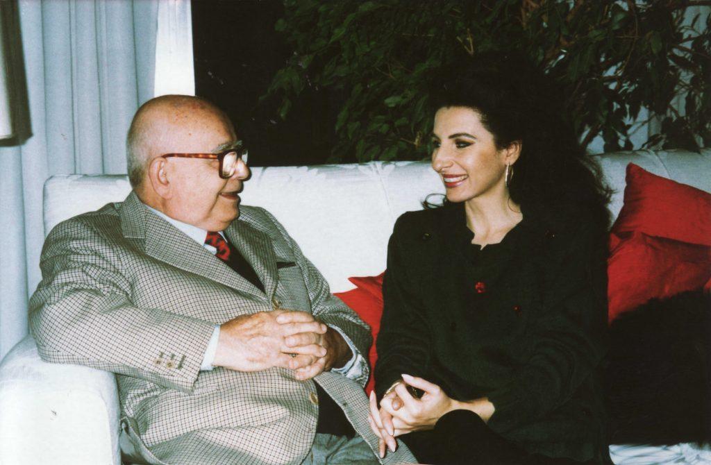LUCIA ALIBERTI con lo scultore e pittore ALIGI SASSU